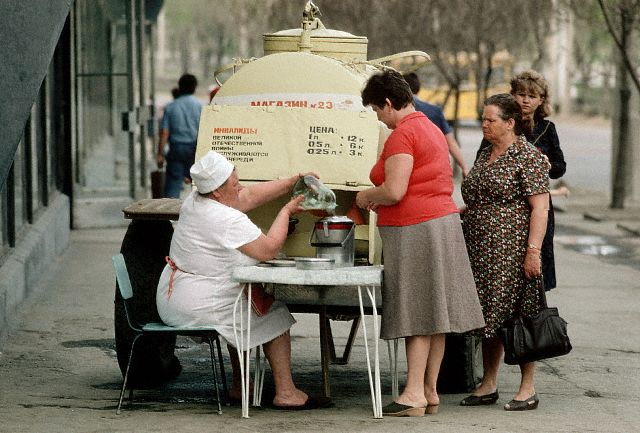 Woman Selling Food for Charity